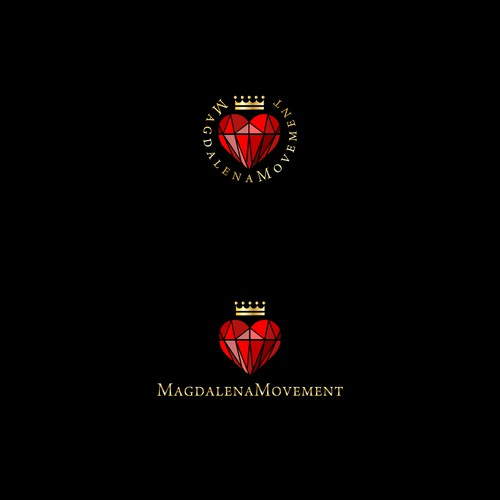 Gemstone logo with the title 'Logo for Magdalena Movement'