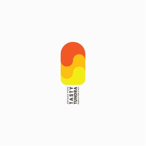 Popsicle logo with the title 'Logo Concept for Tasty Tundra'