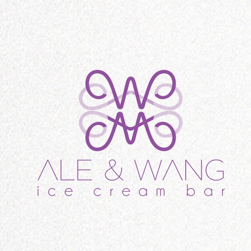 Calligraphy design with the title 'Create the best and winning brand for our Artisanal Asian Ice Cream'