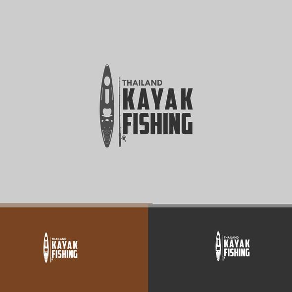 Kayaking logo with the title 'Thailand Kayak Fishing needs a logo'