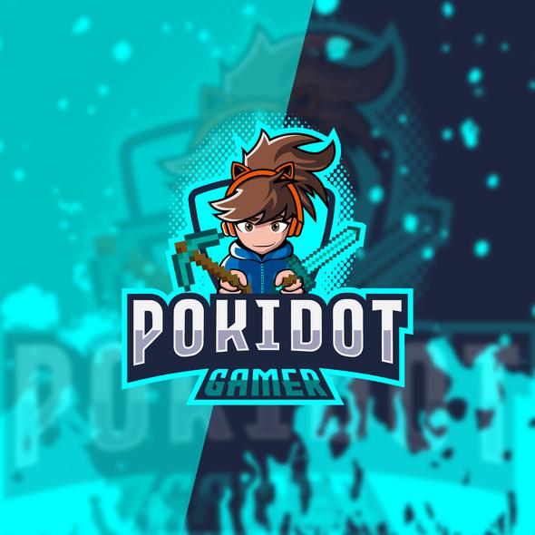 Minecraft design with the title 'Logo design'