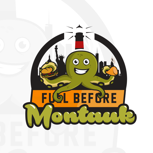 Squid design with the title 'Full Before Montauk'