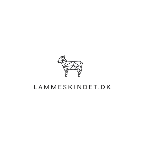 Scandinavian design with the title 'Scandinavian sheepskins webshop logo '