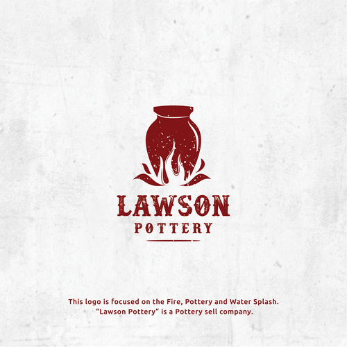 Pottery design with the title 'Pottery logo for Lawson Pottery'