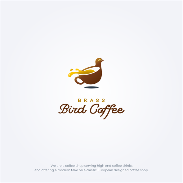 Double meaning logo with the title 'Brass Bird Coffee'