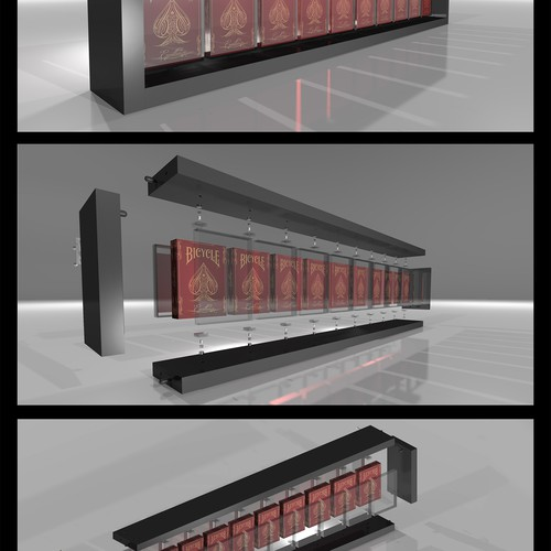 Playing card design with the title '3D Model and renderings of playing cards rack'