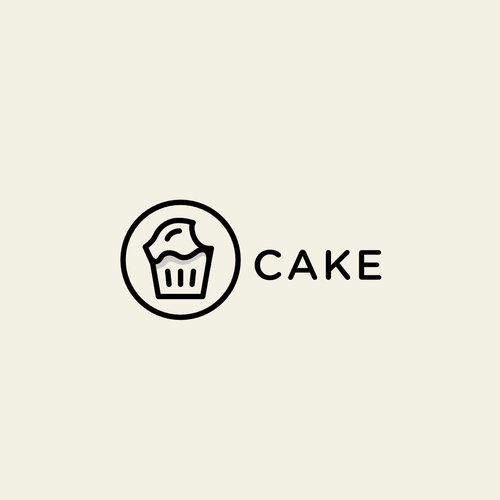 Cake brand with the title 'Logo - Online Cake Bakery'