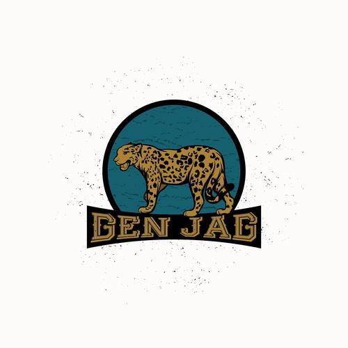 Jaguar design with the title 'GEN JAG'