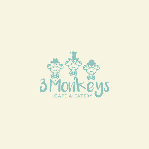 Eatery design with the title '3 monkeys'