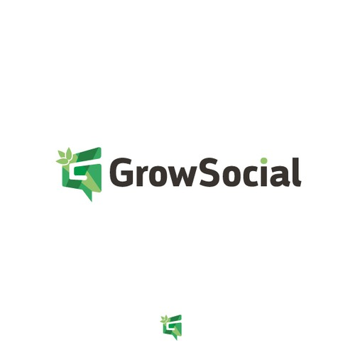 Growing logo with the title 'Logo for social media company'