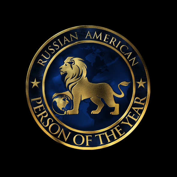 Royal blue logo with the title 'Design a Logo That Will Become Symbol for Prestigious Award'