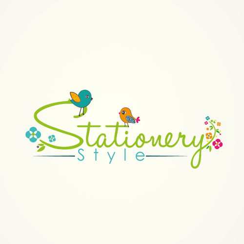 Clean logo with the title 'logo for Stationery Style'