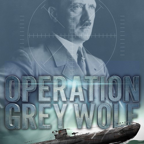 Submarine design with the title 'Operation Grey Wolf'
