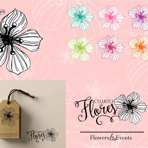 Sassy design with the title 'Flower Shop Logo'