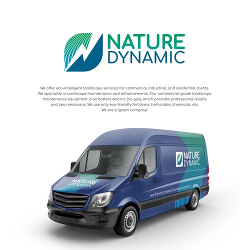 Envelope logo with the title 'Logo for progressive, eco-friendly commercial landscape service co.'