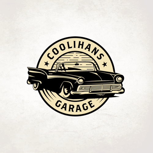 Shop design with the title 'Coolihans Garage'