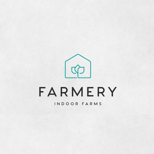 Clean and simple logo with the title 'Logo for indoor farming systems'