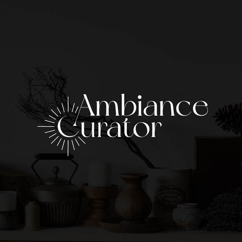 """Aroma design with the title 'Logo concept for """"Ambiance Curator""""'"""
