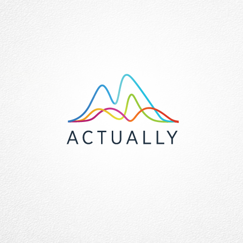 Stock market logo with the title 'Logo For Actually'