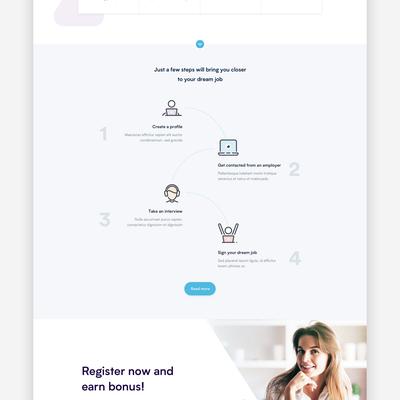 Home Page Design For Recruitment Platform