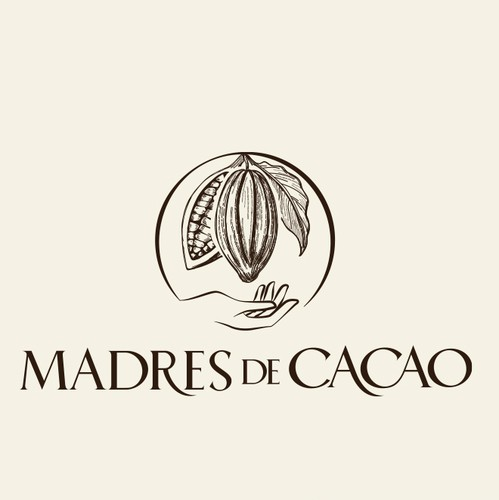 Arm logo with the title 'Logo design for a new brand of organic chocolate'
