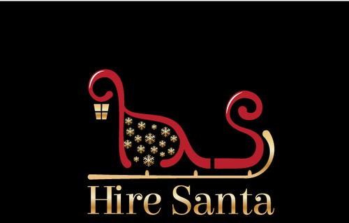 Snowflake design with the title 'Christmas Logo for Hire Santa'