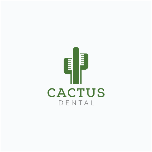 Cactus logo with the title 'Creative Negative Space Logo for Cactus Dental'
