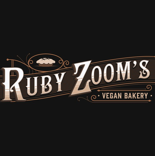 Badass logo with the title 'Ruby Zoom's Vegan Bakery'