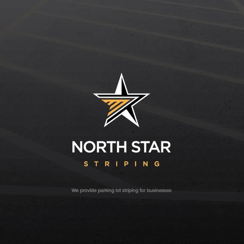 Management logo with the title 'North Star Striping'