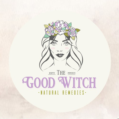Fairy design with the title 'Logo for natural cosmetics brand'
