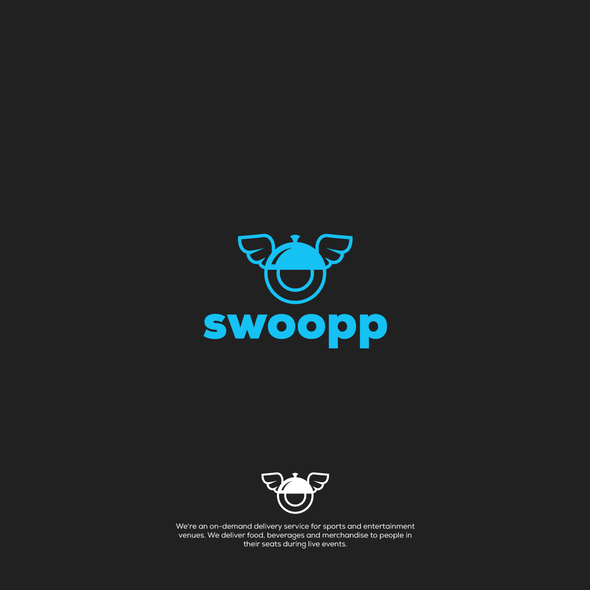 Food delivery logo with the title 'logo design for swoop'