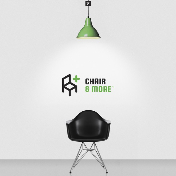 Chair design with the title 'Chair and More logo design'