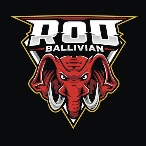 Elephant design with the title 'ROD Mascot Logo'