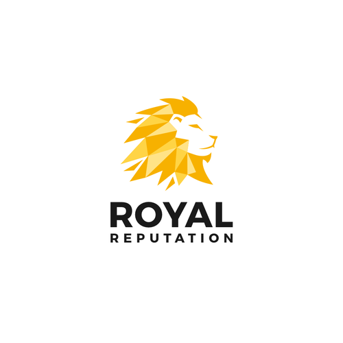 Gold and green logo with the title 'Logo for Royal Reputation'