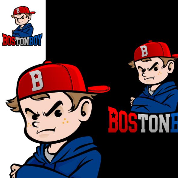 Boston logo with the title 'logo for Boston Boy'