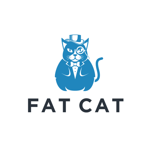 Top hat design with the title 'Winning logo design for Fat Cat'