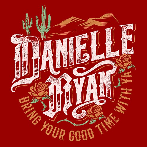 Grunge t-shirt with the title 'Danielle Ryan'