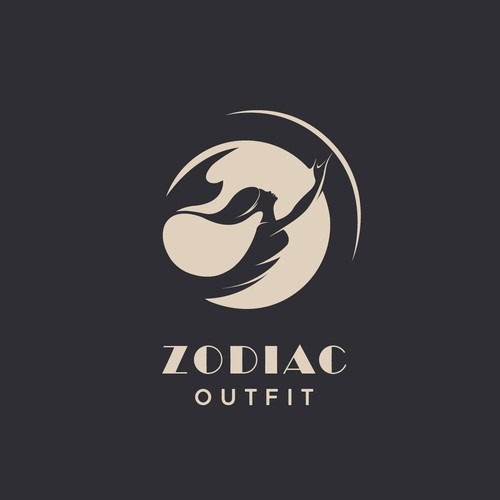 Mermaid logo with the title 'Elegant logo concept for 'ZODIAC-outfit''