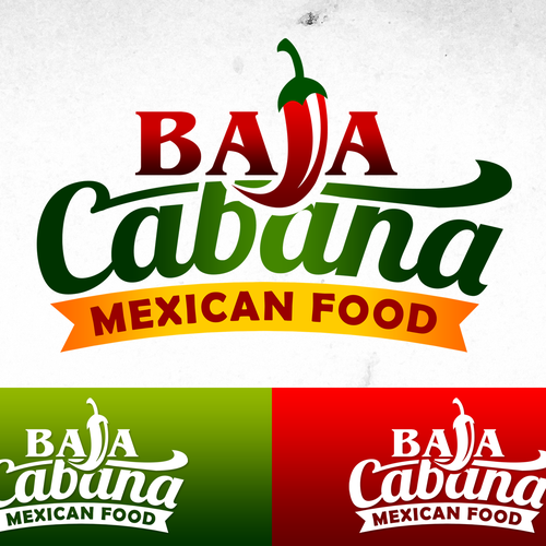 Burrito logo with the title 'Baja Cabana logo Design'