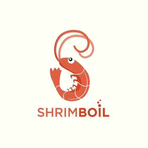 Shrimp logo with the title 'Shrimp logo for Shrimp serving Restaurant'