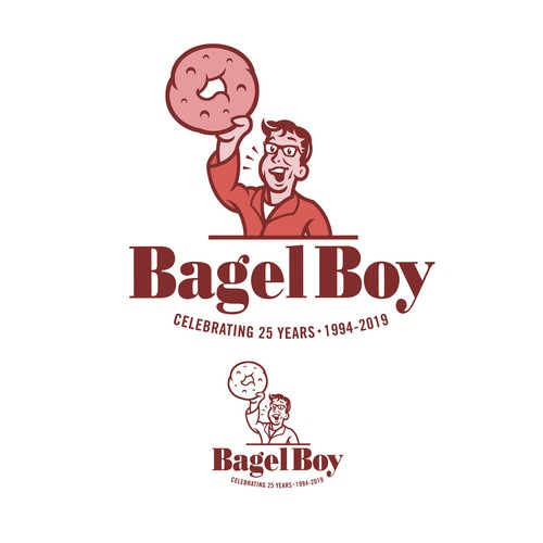 50s logo with the title 'Bagel Boy 25th Anniversary Logo'