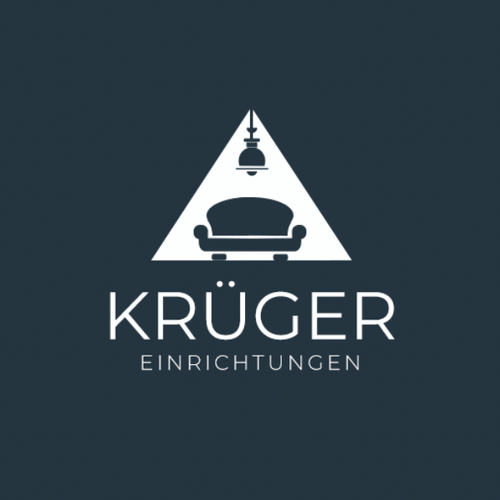 Indoor design with the title 'Kruger Einrichtungen'