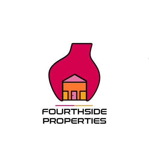 Magenta logo with the title 'Abstract Design for Property Management Concept'