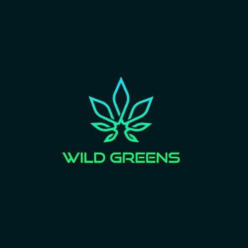Anesthesia logo with the title 'Wild Greens logo design'