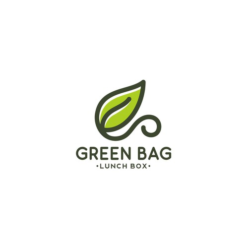 Food and beverage logo with the title 'Lunch Box Logo'
