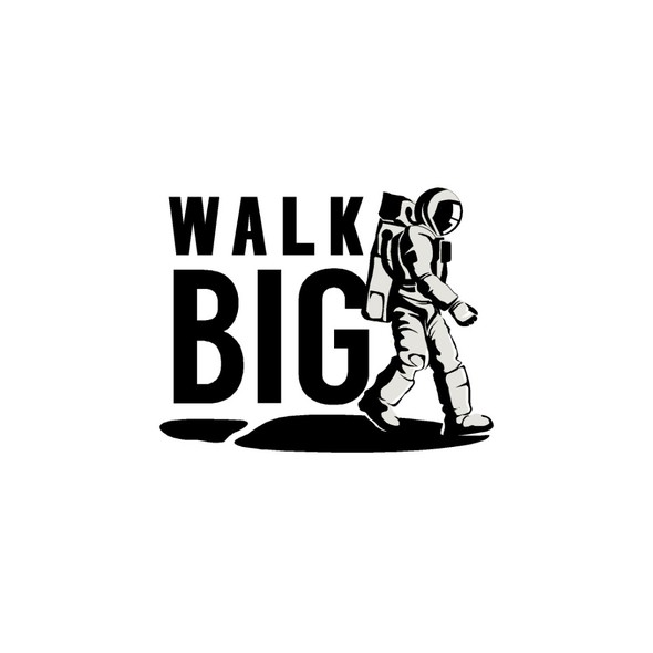 Footprint design with the title 'WalkBig'