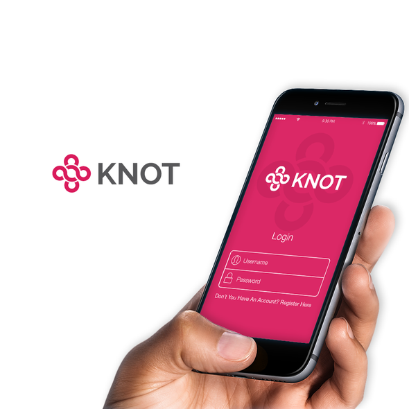 Listing design with the title 'Knot Logo Design'