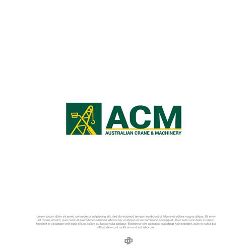Crane logo with the title 'Logo Design Entri for ACM'