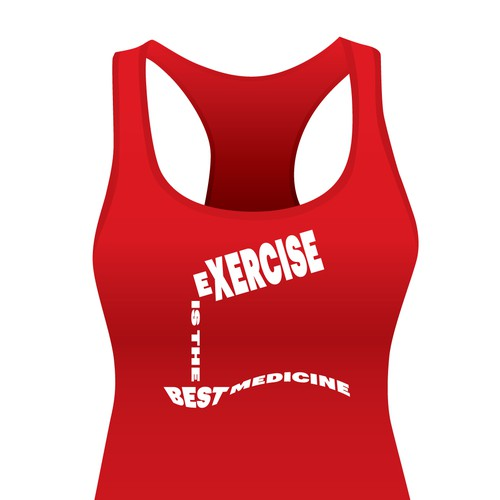 Tank top design with the title 'Fitness Shirt Design'