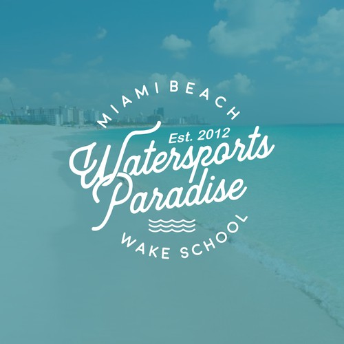 Longboard logo with the title 'Winner of Watersports Paradise Contest'